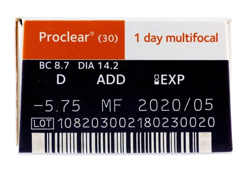 50bb0541bd1d3 Proclear 1 Day multifocal (30 lentillas) - Previsualización de atributos
