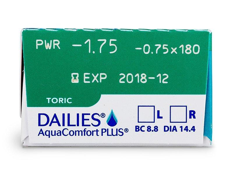 Dailies AquaComfort Plus Toric (30lentillas) - Previsualización de atributos