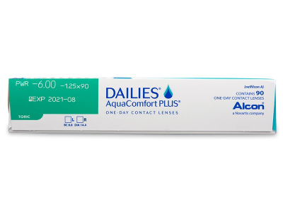 Dailies AquaComfort Plus Toric (90 lentillas) - Previsualización de atributos