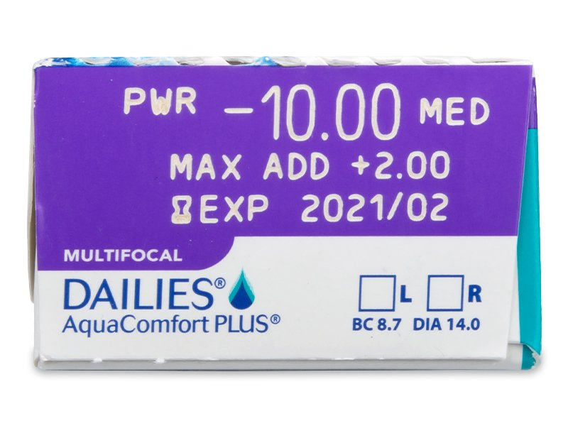 0e189b3fc1106 Dailies AquaComfort Plus Multifocal (30 lentillas) - Previsualización de  atributos