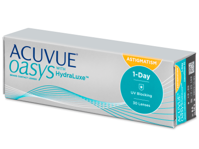Acuvue Oasys 1-Day with HydraLuxe for Astigmatism (30 lentillas) - Lentillas tóricas