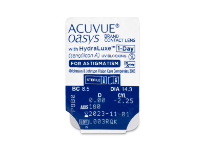 Acuvue Oasys 1-Day with HydraLuxe for Astigmatism (30 lentillas) - Previsualización del blister