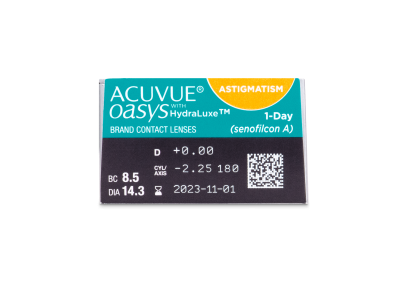 Acuvue Oasys 1-Day with HydraLuxe for Astigmatism (30 lentillas) - Previsualización de atributos