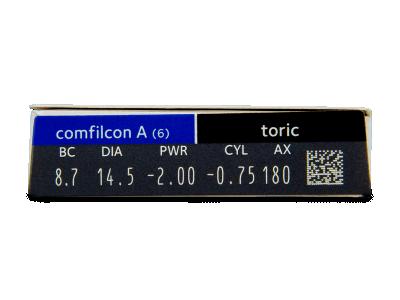 Biofinity Toric (6lentillas) - Previsualización de atributos