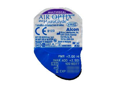 Air Optix plus HydraGlyde Multifocal (6lentillas) - Previsualización del blister