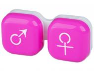 Estuche de lentillas - Estuche de lentillas mujer y hombre - rosa