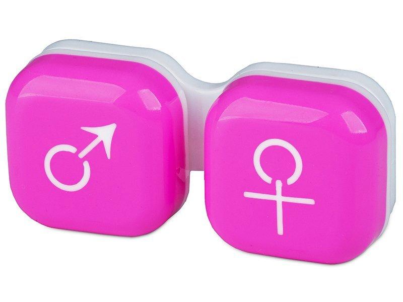 Estuche de lentillas mujer y hombre - rosa
