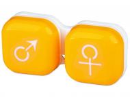 Estuche de lentillas - Estuche de lentillas Hombre y mujer – Amarillo