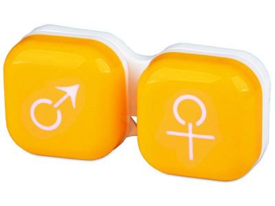 Estuche de lentillas Hombre y mujer – Amarillo