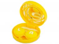 Accesorios para lentes de contacto - Estuche de lentillas con ornamento - Amarillo