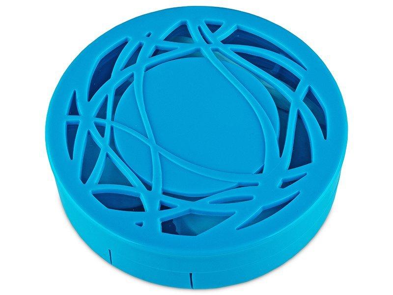 Estuche de lentillas con ornamento - Azul  - Estuche de lentillas con ornamento - Azul
