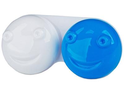 Estuche de lentillas 3D azul