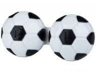 Estuche de lentillas - Estuche de lentillas Fútbol - Negro