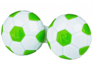 Estuche de lentillas - Estuche de lentillas fútbol - verde