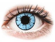 Lentillas de color azul - sin graduación - ColourVUE Crazy Lens - Blizzard - Sin graduar (2lentillas)