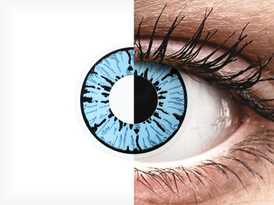 ColourVUE Crazy Lens - Blizzard - Sin graduar (2lentillas)