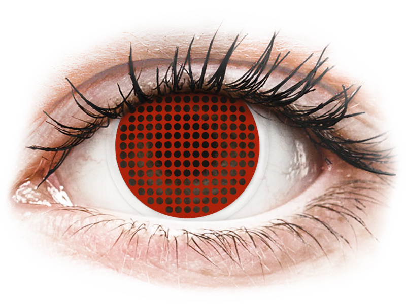 ColourVUE Crazy Lens - Red Screen - Sin graduar (2 lentillas)