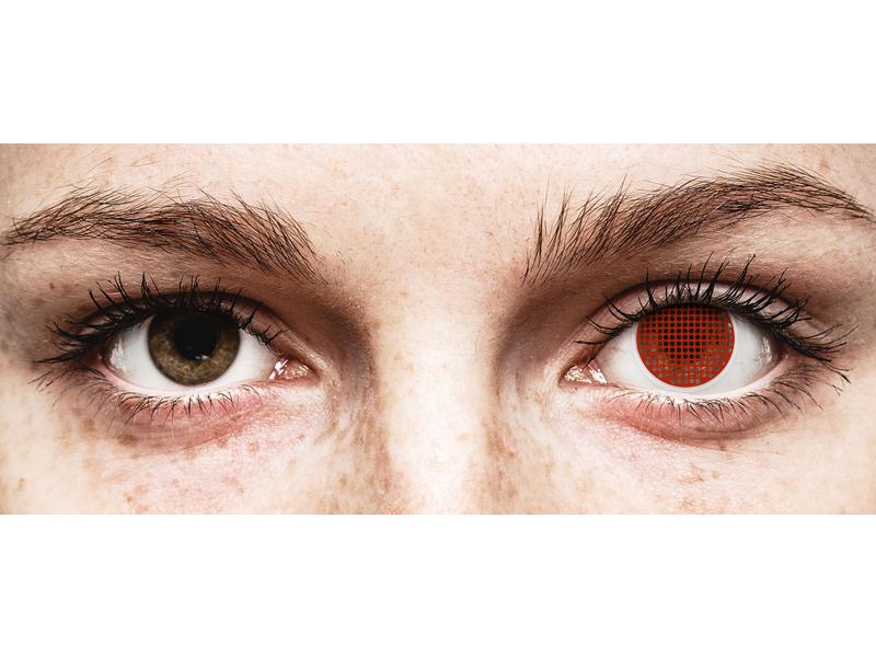ColourVUE Crazy Lens - Red Screen - Sin graduar (2 lentillas)