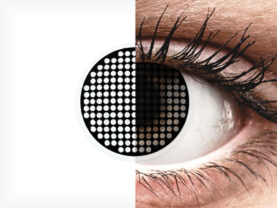 ColourVUE Crazy Lens - Black Screen - Sin graduar (2 lentillas)