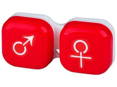 Estuche para lentillas Hombre y mujer - Rojo