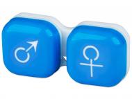 Accesorios para lentes de contacto - Estuche para lentillas Hombre y mujer - Azul