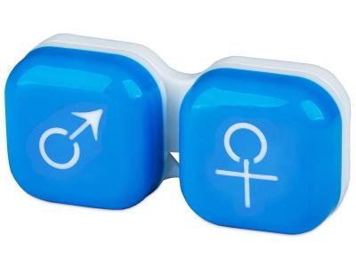 Estuche para lentillas Hombre y mujer - Azul