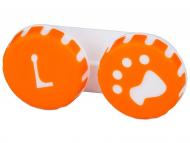 Estuche de lentillas - Estuche de lentillas huella - Naranja