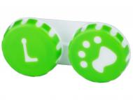 Accesorios para lentes de contacto - Estuche de lentillas con huella - verde