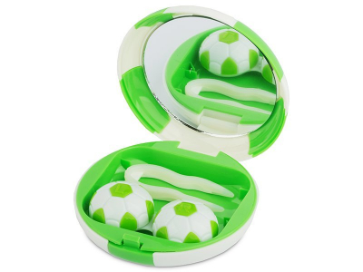 Estuche de lentillas Fútbol - Verde