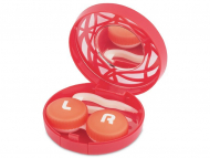 Accesorios para lentes de contacto - Estuche de lentillas con ornamento - Rojo