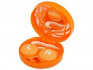 Estuche de lentillas con espejo - Estuche de lentillas con ornamento - naranja
