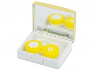 Estuche de lentillas con espejo - Estuche de lentillas elegante - amarillo