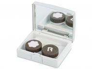 Accesorios para lentes de contacto - Estuche de lentillas elegante - gris