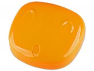 Accesorios para lentes de contacto - Estuche de lentillas con Cara - Naranja