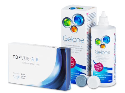 TopVue Air (6 Lentillas) + Líquido Gelone 360 ml