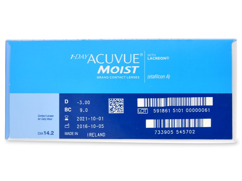 1 Day Acuvue Moist (180 Lentillas) - Previsualización de atributos