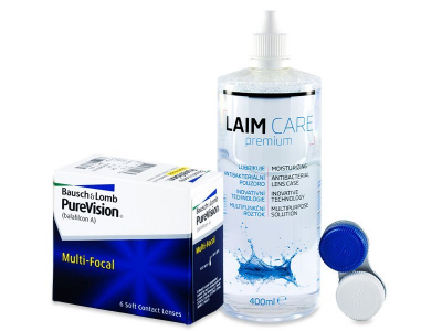 PureVision Multi-Focal (6 Lentillas) +Líquido Laim-Care 400 ml