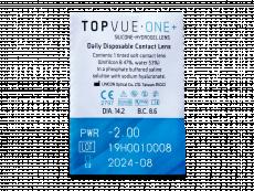TopVue One+ (30 lentillas) - Previsualización del blister