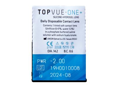 TopVue One+ (90 lentillas) - Previsualización del blister