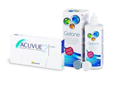 Acuvue 2 (6 lentillas) + Líquido Gelone 360 ml