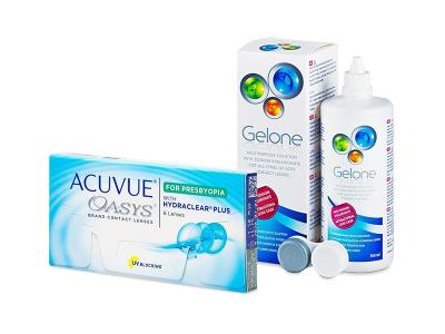 Acuvue Oasys for Presbyopia (6 lentillas) + Líquido Gelone 360 ml