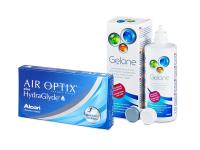 Air Optix plus HydraGlyde (6 lentillas) + Líquido Gelone 360 ml