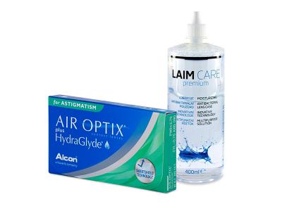 Air Optix plus HydraGlyde for Astigmatism (6 lentillas) + Líquido Laim-Care 400 ml