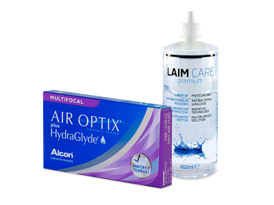 Air Optix plus HydraGlyde Multifocal (6 lentillas) + Líquido Laim-Care 400 ml