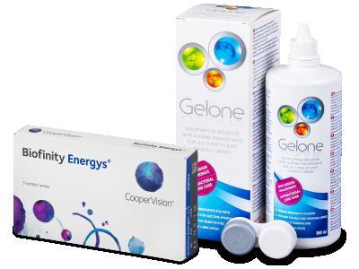 Biofinity Energys (3 lentillas) + Líquido Gelone 360 ml