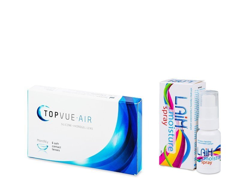 TopVue Air (6 lenses) + Laim Moisture spray - Pack ahorro