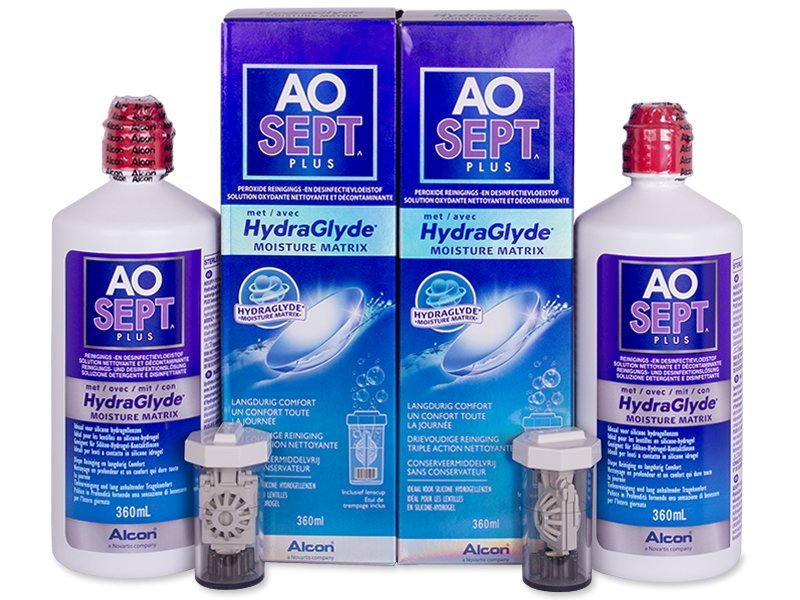 Líquido AO SEPT PLUS HydraGlyde 2 x 360 ml  - Pack ahorro - solución doble