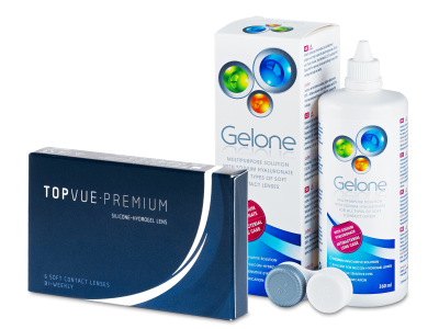 TopVue Premium (6 lentillas) + Líquido Gelone360 ml