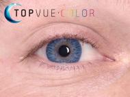 TopVue Color - Con graduación (2lentillas) - True sapphire en ojos azules