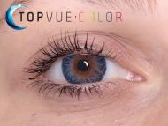 TopVue Color - Con graduación (2lentillas) - True sapphire en ojos marrones